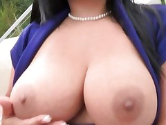 Rampant Sophia Lomeli shows off her massive melons