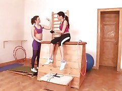 Anita Pearl and pal workout their pussies