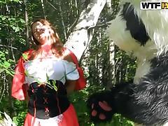 red riding hood and the big bad panda