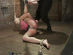 slut bound on the floor and punished