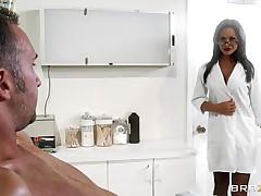 amazing doctor teasing her patient