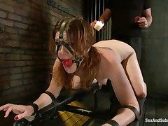 cici rhodes feels pain and pleasure in the dungeon!