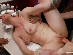 beretta james and her ally get fucked in a diner