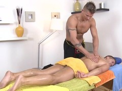 Explicit anal fucking for stylish dude during massage