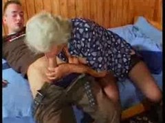 Busty German Granny fucks young Lad