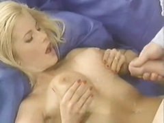 Cumshot facial compilation with a hot blonde