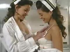 2 pinup babes in nurse uniforms making each other feel so damn good