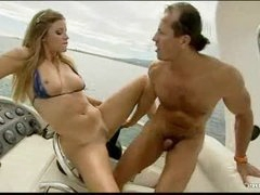 Sex on a boat with Monica Sweetheart