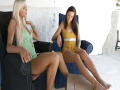 luxury teens testing big vibrator