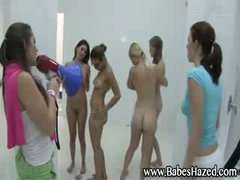 Lesbian shower for college girls