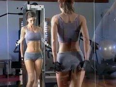 Veronica Zemanova works out and bathes naked