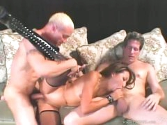 Nasty oriental Keeani Lei gets her pussy pounded whilst sucking on a hard prick